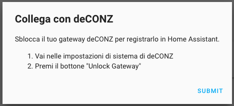 Home Assistat - Integrazione deCONZ
