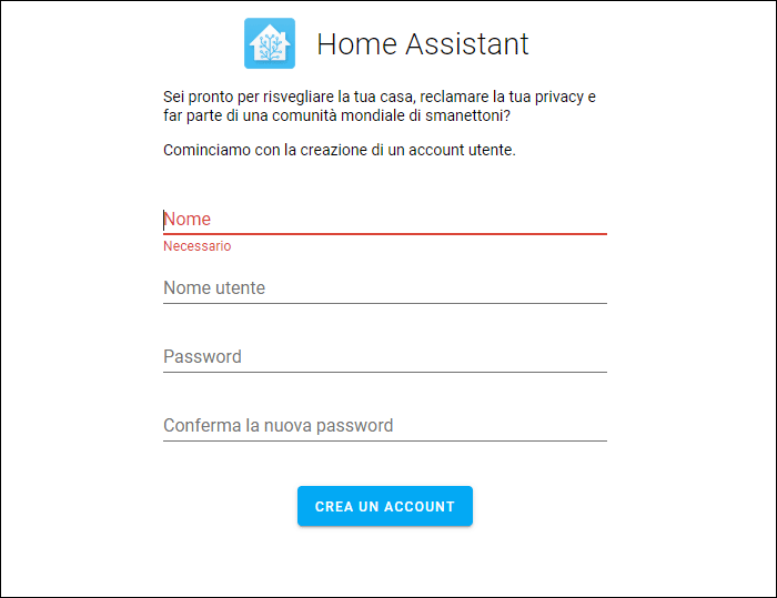 Home Assistant - Onboarding