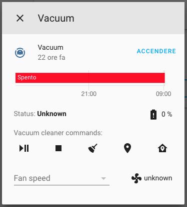 Home Assistant - Vacuum