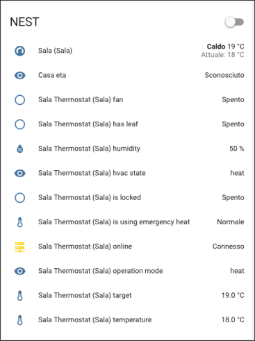 Home Assistant - integration NEST Learning Thermostat