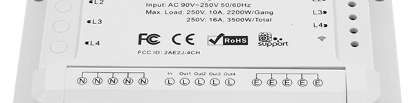 ITEAD Sonoff 4ch - 4ch PRO (R1 et R2)