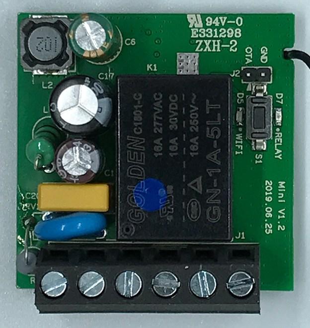 ITEAD Sonoff Mini - Front interior