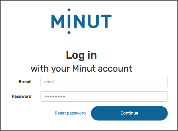 Minut Point Clound - Authentifizierung