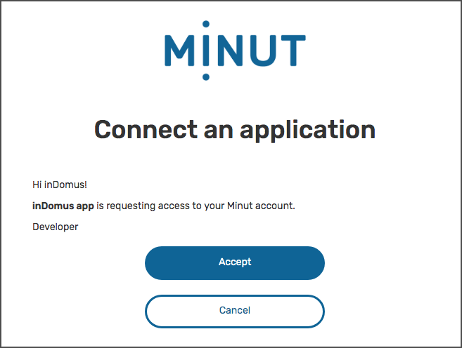 Minut Point Clound - Authorization