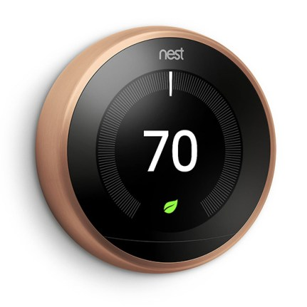 NEST Learning Thermostat V3 - Laterale - Copper