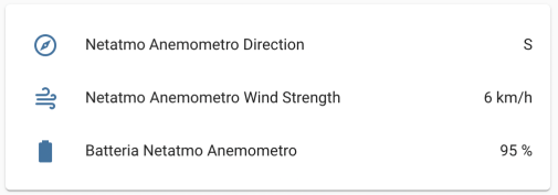 Netatmo Anemometro Wireless - Home Assistant