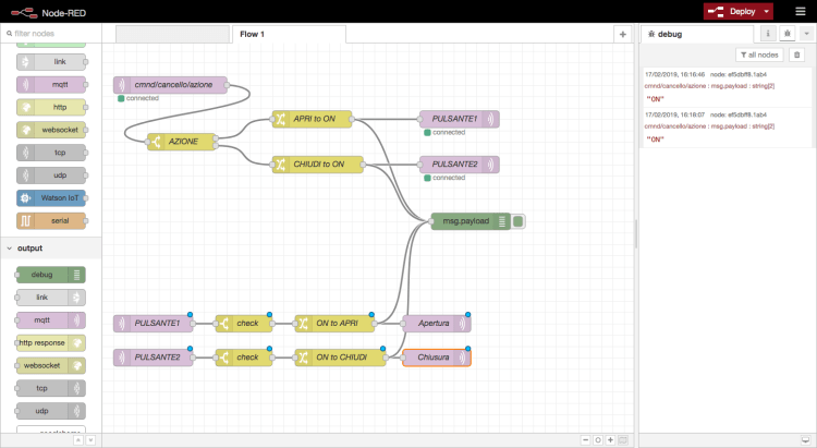 Node-RED - Devices flow> home automation - both flows completed