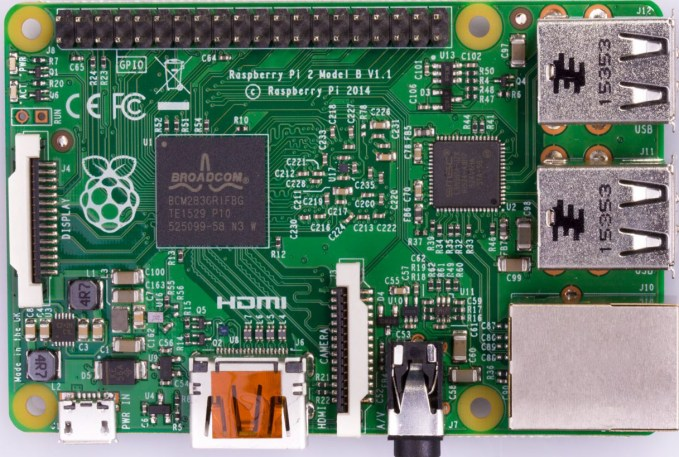 Raspberry Pi 2 Top