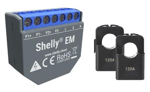 Shelly EM con pinze