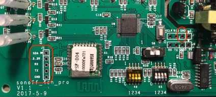Sonoff 4channel board