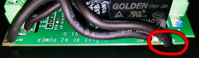 Sonoff Basic RF R2 POWER V1.0 - Contatto N - tacca del profilo