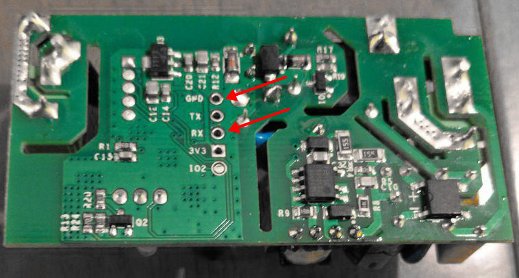 Sonoff-Basic-RF-R2-POWER-V1.0-Retro - RX- und GRN-Kontakte