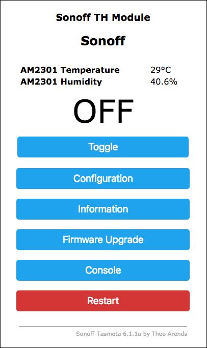 Sonoff-Tasmota-TH-16 TH-10 Temperatura e Umidità - Temp RES0