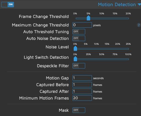 motionEye - Motion Detection - Senza filtri