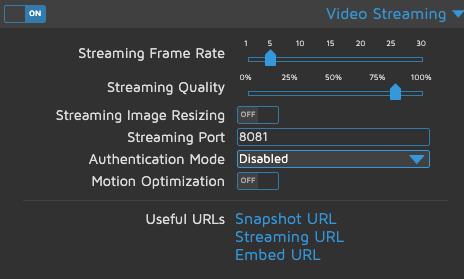 motionEye - Video Streaming
