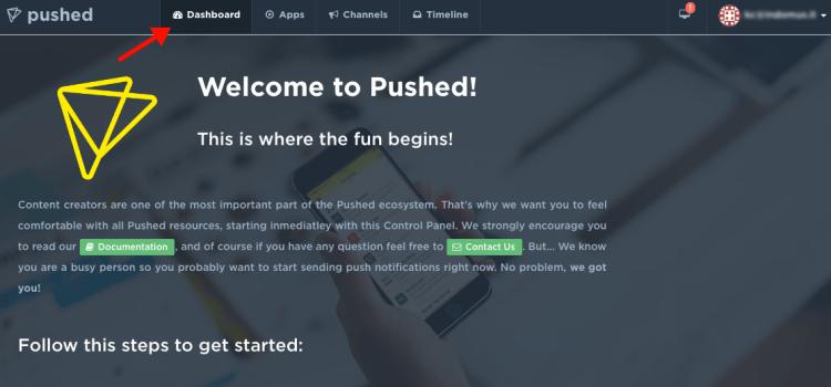 pushed.co - developer app