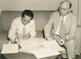 Sjahrir and Schermerhorn drafting the Agreement