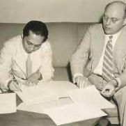 Sjahrir and Schermerhorn drafting the Agreement