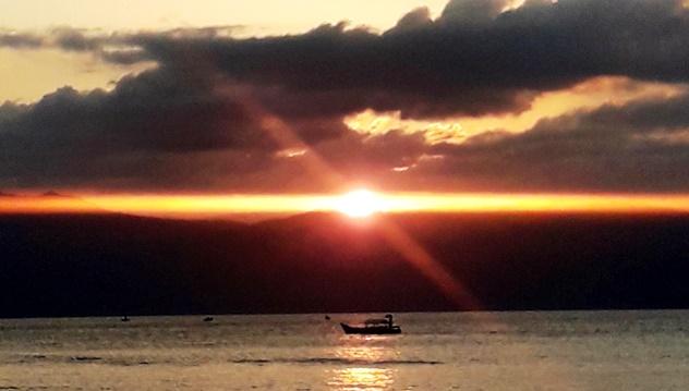 Timor Alor Rote  tramonto e barca