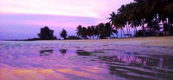 Sumba spiaggia al tramonto