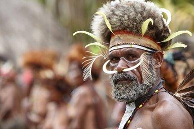 papua Irian Jaya  costume tribale