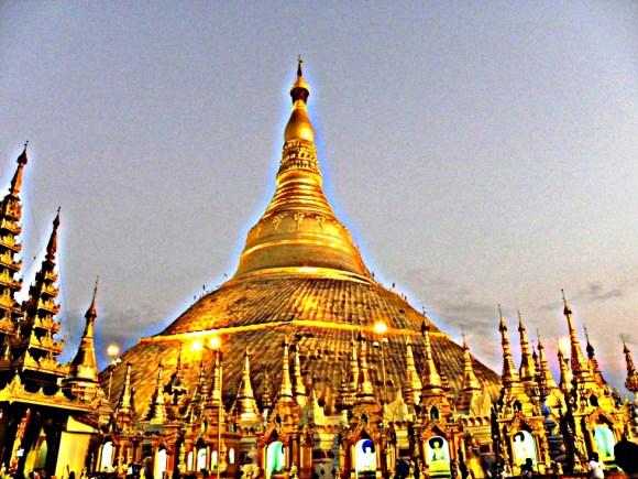 Myanmar yangon pagoda oro
