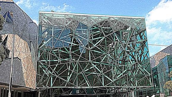 Melbourne fed square atrium