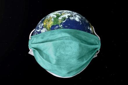 covid19 il mondo con la maschera