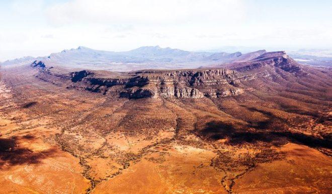 Flindera ranges and outback