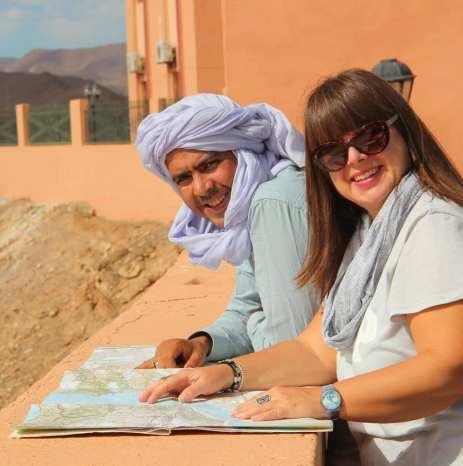 Marocco pianificando il percorso