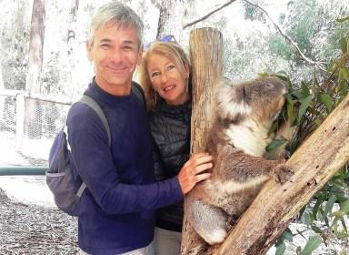 Adelaide hill noi e il koala
