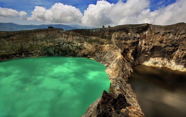 Flores island Indonesia, Colored Lakes, Mt Kelimutu