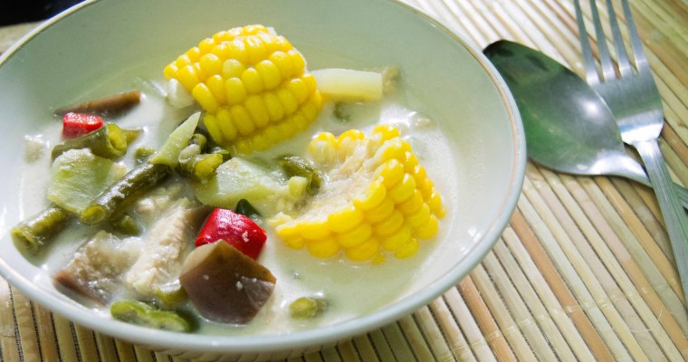 Javanese Coconut Milk Soup and Spicy Peanut and Anchovy
