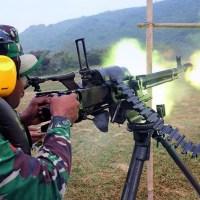 Latihan Yon Arhanudse 10 Dengan DShK 12.7mm Heavy Machine Gun