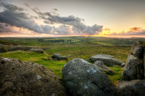 Simon Vogt, Dartmoor Sunset, taken at Haytor, Dartmoor