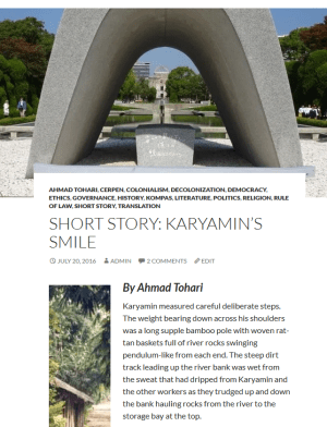 Indonesian Translation Service Short Story Karyamins Smile by Ahmad Tohari