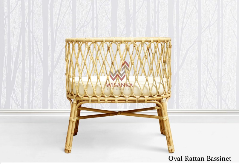Rattan Baby Bassinet Manufacturer from Indonesia