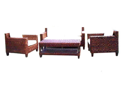 Erlina Croco Woven Living Set with New Table