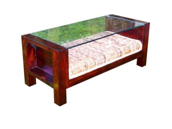 Mini Sofa Wicker Table