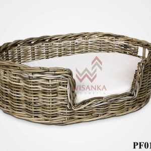 Abby Rattan Dog Bed