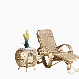 Dorin Rattan Relax Chair with stool