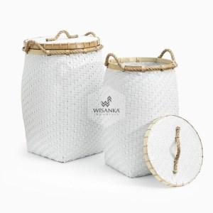 Round Belly Laundry Wicker Basket