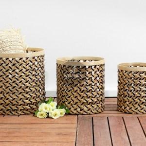 Round Ninja Rattan Basket