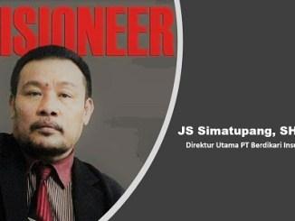 Direktur Utama PT Berdikari Insurance JS Simatupang SH, MH