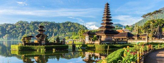 Pura Ulun Danu Bratan, een hindoeïstische tempel - Bali, Indonesië