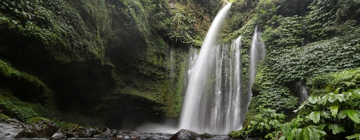 Air Terjun Sindang Gila, de 'Slightly Crazy' waterval nabij Senaru Village