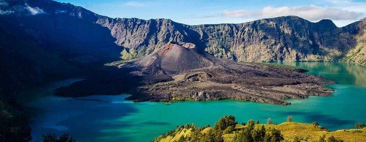 Rinjani vulkaan in Gunung Rinjani National Park