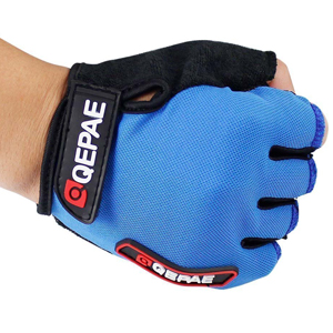 Grazing Ultra-breathable and Anti-slip Half Finger Silicone Bike Gloves