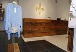 indoormobel recepción de madera maciza