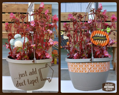 Use duct tape to upcycle Autumn decorations